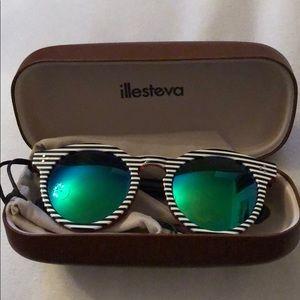 Illestiva Leonard 2 Sunglasses green mirrored lens